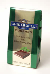 Ghirardelli dark chocolate and mint