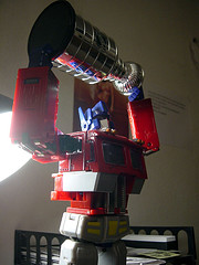 Optimus Prime Hoists The Cup